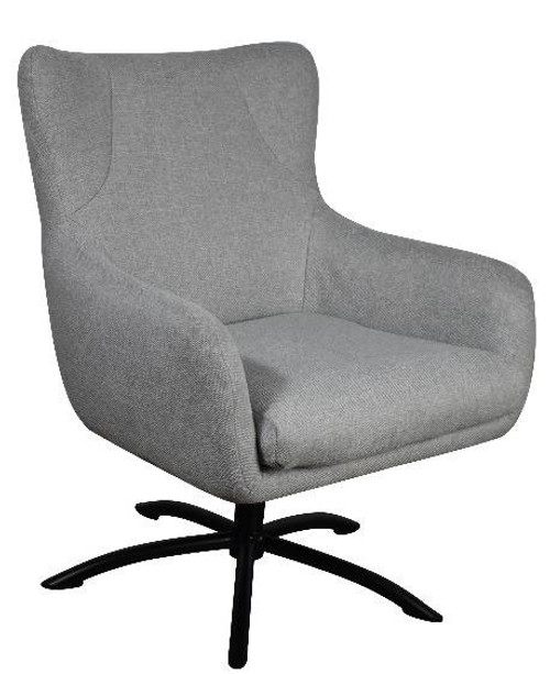 BELLA FABRIC CHAIR - LIGHT GREY