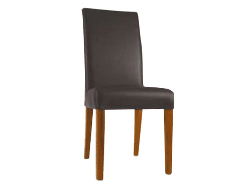 DALLAS LEATHERETTE CHAIR - BROWN