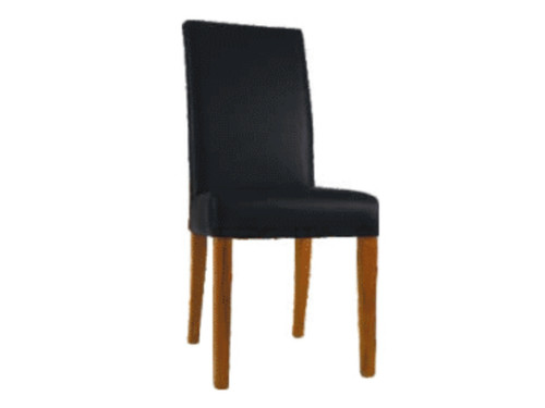 DALLAS LEATHERETTE CHAIR - BLACK