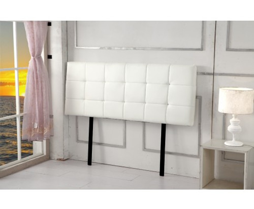 DOUBLE CHORT DELUXE LEATHERETTE HEADBOARD BEDHEAD - WHITE
