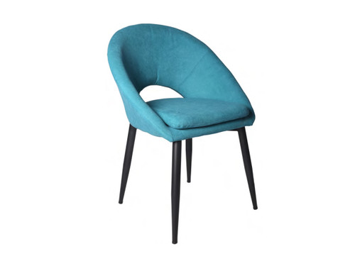 DREYAR FABRC DINING CHAIR - TURQUOISE