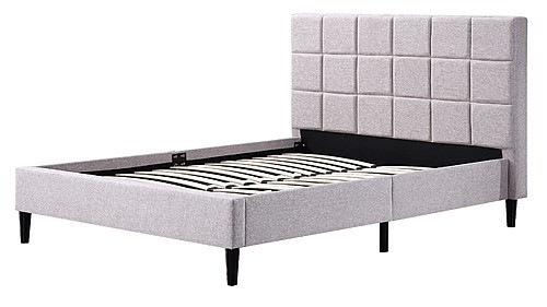 DOUBLE ELLINGTON DELUXE FABRIC BED FRAME - BEIGE