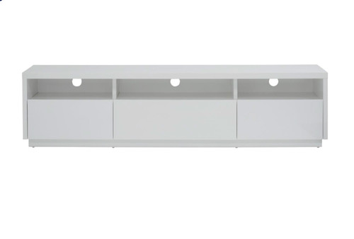 BELGIUM TV STAND WITH 3 SHELVES / 3 DRAWERS - WHITE