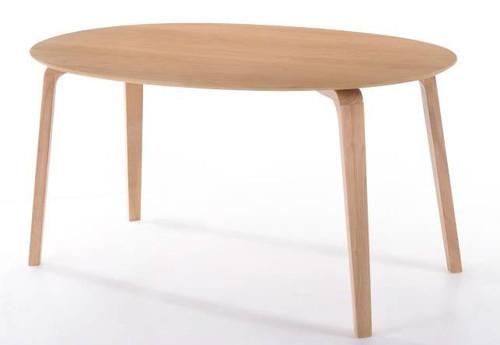 BETTY OVAL FIX DINING TABLE  - 1500(L) X 900(W) - NATURAL OAK VENEER