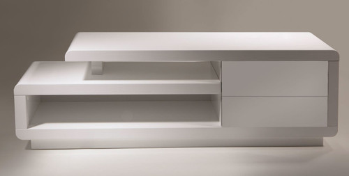 CENTRAL TV STAND - WHITE