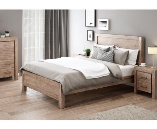 DOUBLE NOWRA ACACIA BED FRAME - CLASSIC OAK