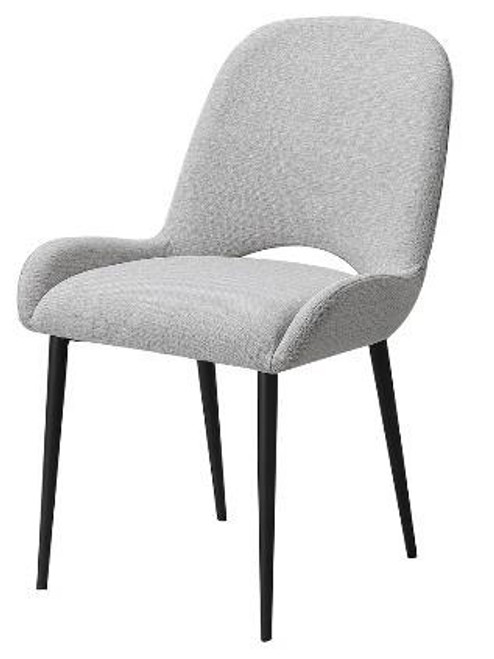 CROWN C004 CHAIR - LIGHT GREY FABRIC