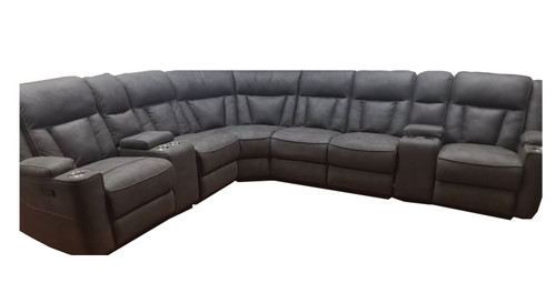 ADAIR 8 PIECE CORNER SUITE  WITH RECLINING CHAISE - BEIGE (NOT AS PICTURED)