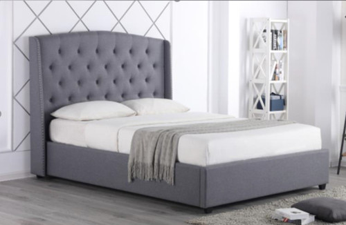 DOUBLE MONTELLO  FABRIC BED - AS PICTURED
