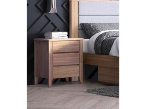ALVAIR BEDSIDE TABLE WITH 2 DRAWERS - SOLID ASH
