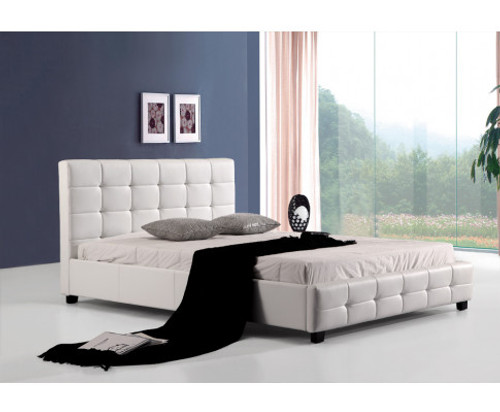 DOUBLE MIKYLINE LEATHER BED - WHITE