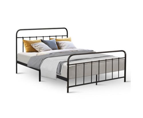 DOUBLE KATARINA METAL BED - BLACK