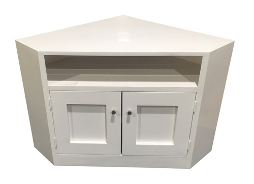 CLAUDE LARGE CORNER TV STAND - 630(H) x 1300(W) - WITH METAL RING HANDLES - PAINTED COLOURS