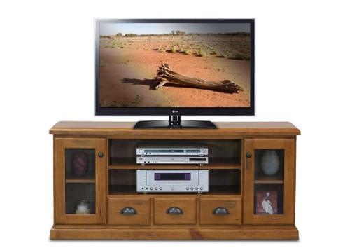 BATHURST TV ENTERTAINMENT UNIT - 1500(W) X 420(D) - RUSTIC