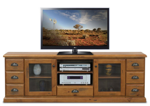 BATHURST TV ENTERTAINMENT UNIT - 2000(W) X 420(D) - RUSTIC