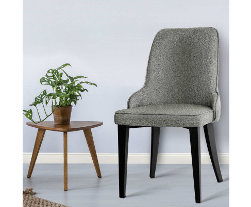 ANDREA (SET OF 2) FABRIC DINING CHAIRS - GREY
