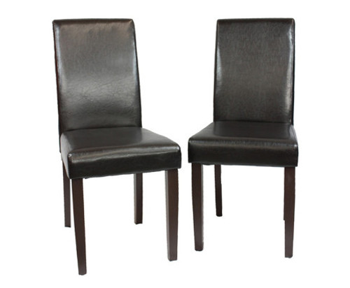 ADALICIA (SET OF 2) WOODEN DINING CHAIRS - BLACK
