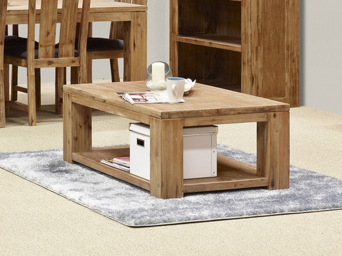 CLIFTON COFFEE TABLE (G3086) -  1200(W) x 700(D) - LIGHT BROWN