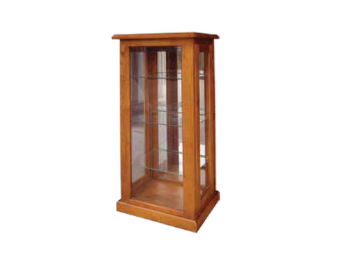 ARMIN SOLID TIMBER DISPLAY CABINET 1200(H) x  530(W) - BLACKWOOD