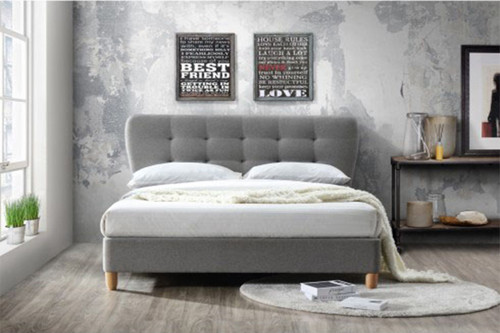 DOUBLE YANCY FABRIC BED FRAME - AS PICTURED
