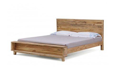 DOUBLE SMITHS SOLID PINE TIMBER BED - RUSTIC