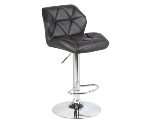 CHARMY (SET OF 2) PU LEATHER BAR STOOLS - BLACK