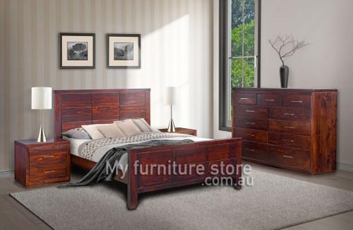 DOUBLE NARRABEEN PANEL BED (14-15-15-20-21-18-5) - WALNUT (#219)