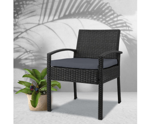 DENVERN  OUTDOOR WICKER CHAIR  - BLACK