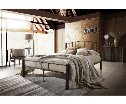 DOUBLE TRITON METAL BED FRAME - TWO TONE