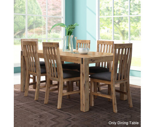 CARSON DINING TABLE ONLY -2100(W) x 1000(D) - OAK