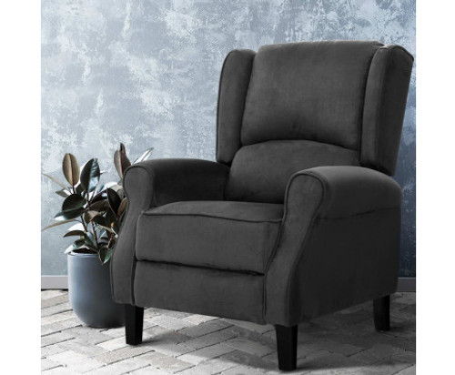 AFTON  RECLINER ARM CHAIR - CHARCOAL