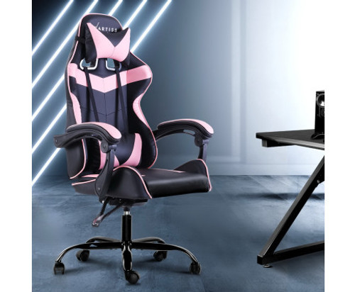 PAXTON RECLINING OFFICE COMPUTER  CHAIR  - BLACK & PINK