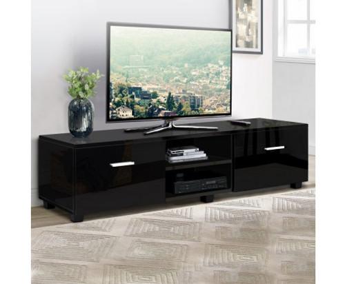 BRISBANE TV CABINET ENTERTAINMENT UNIT WITH RGB LED 1400(W) - HIGH GLOSS BLACK