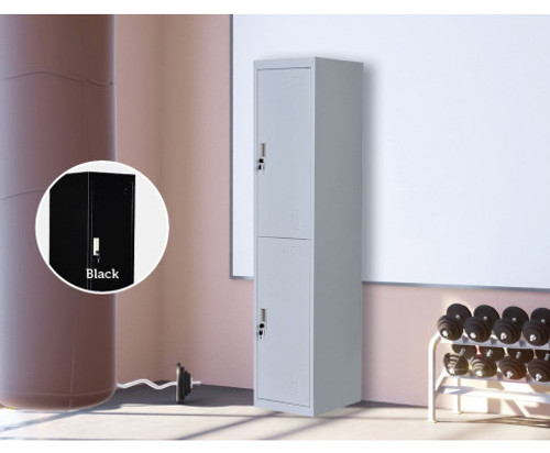 ROWAN TWO-DOOR  OFFICE - GYM - STORAGE - SHED - LOCKERS - 380(W) - GREY