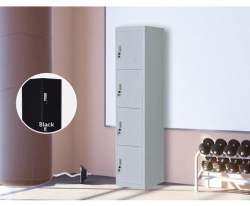 ROWAN FOUR-DOOR  OFFICE - GYM - STORAGE - SHED - LOCKERS - 380(W) - GREY