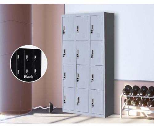 ROWAN TWELVE - DOOR  OFFICE - GYM - STORAGE - SHED - LOCKERS - 900(W) - GREY
