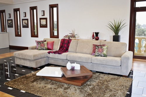 HOLLYWOOD / LUCIA 3 SEATER + CHAISE - ASSORTED COLOURS