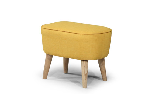 GEORGIA FABRIC UPHOLSTERED FOOT STOOL - YELLOW