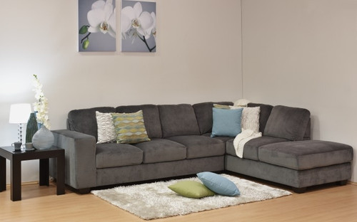 CLARENCE 3 SEATER CHAISE SUITE (RHF) - ASSORTED COLOURS