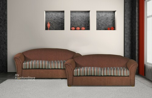 COSMO 2.5 SEATER + 2 SEATER FABRIC LOUNGE - CHOICE OF FABRICS