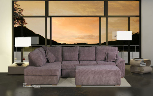 ROSEHILL 3 SEATER CHAISE + OTTOMAN - CHOICE OF COLOURS