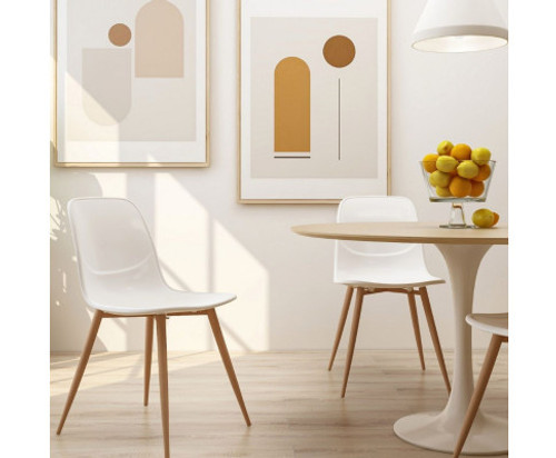 AIKEN (SET OF 2) DINING CHAIR - WHITE
