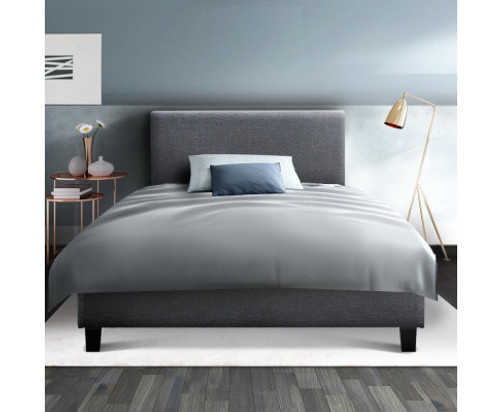 SINGLE NEO  FABRIC BED FRAME - GREY