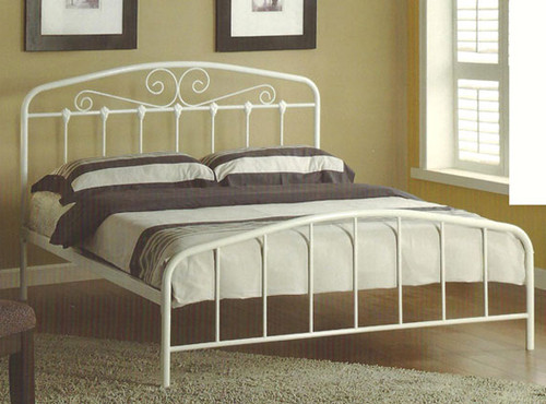 DOUBLE PLUTO (BE-903) BED - WHITE