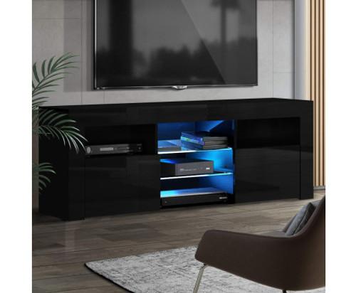 HAMILTON TV CABINET ENTERTAINMENT UNIT WITH RGB LED 1600(W) - HIGH GLOSS BLACK