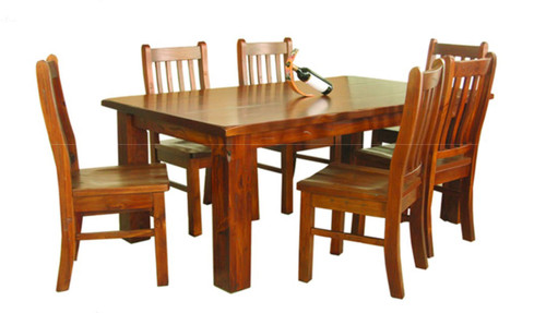 ALANZO 7 PIECE DINING SETTING WITH KIMBERLEY CHAIRS - 1800(L) x 1050(W)