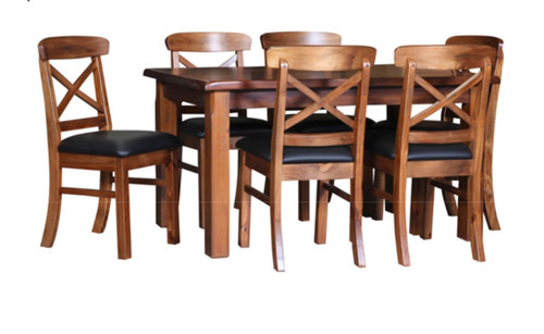 ALANZO 7 PIECE DINING SETTING WITH RANCH CHAIRS - 1800(L) x 1050(W)