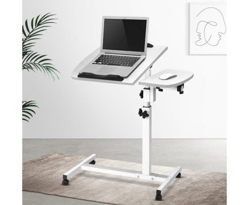 CAMDYN LAPTOP DESK WITH ADJUSTABLE STAND AND USB COOLER - WHITE