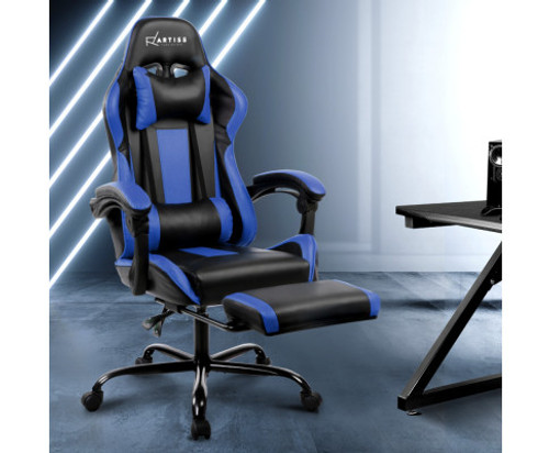 ALARICK OFFICE COMPUTER  RACER GAMING CHAIR - BLACK & BLUE