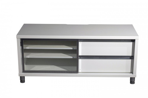 ELISE ENTERTAINMENT LOWLINE UNIT 518(H) x 1200(W) - HIGH GLOSS WHITE